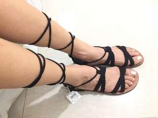 Brash Black Sandals (Payless)