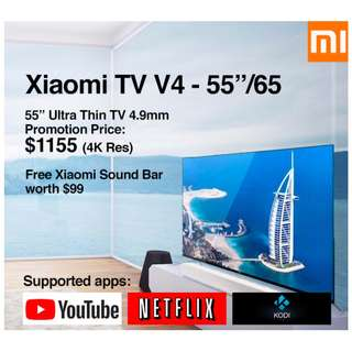 "TV Xiaomi Android TV V4 55""/65"" Build in Mitv Box (Ready Stock)"