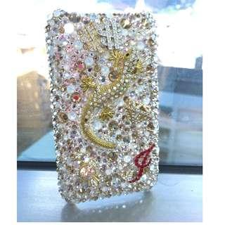 iphone3施華洛世奇貼鑽手機殼