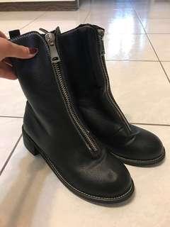 🚚 類馬丁鞋 皮黑色靴子#女裝半價拉