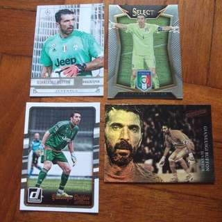 Gianluigi Buffon Topps/Panini trading cards for sale/trade (Lot of 4 cards)