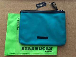 Starbucks Zip-Up Pouch (Green)