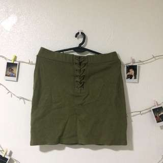 Forever 21 Army Green Pencil Skirt
