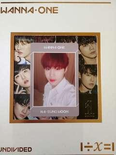 WTS Wanna One Sungwoon Photocard