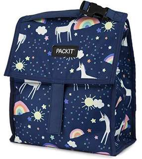 🚚 PackIt Freezable Lunch Bag with Zip Closure (Unicorn Sky)