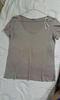 Forever 21 tee tshirt brown kaos