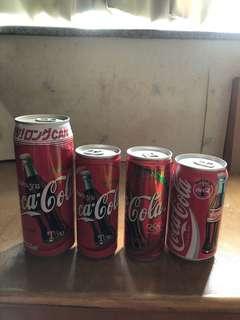 可口可樂4罐-90年代日本韓國法國特別版