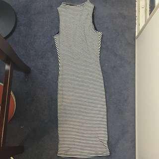 Black and White Horizontal Stripe Dress Size 6