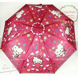 hello kitty automatic folding umbrella