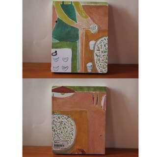 蘑菇Mogu在畫畫 / 包水餃空白牛皮格子筆記本(展示樣本)