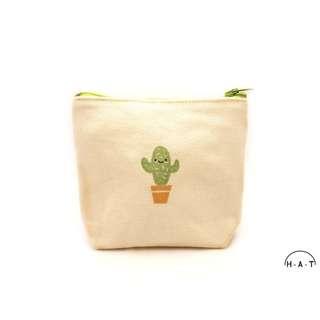 Macho Cactus Handmade Canvas Pouch