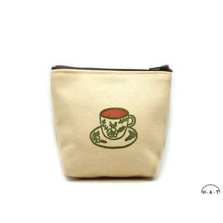 Kopi Coffee Cup Handmade Canvas Pouch