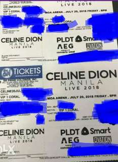 Celine Dion discounted tickets SVIP VIP lowerbox upperbox