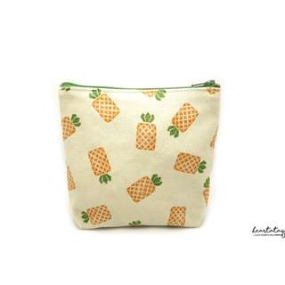 Pineapples Handmade Canvas Pouch