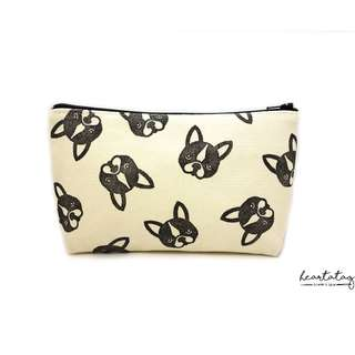 French Bulldogs Handmade Canvas Pouch
