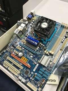 技嘉 GA-MA785GT-UD3H 底板 + CPU