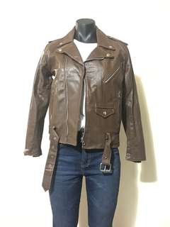 Vintage Tan leather jacket - Size 36 (Fits Size 10)