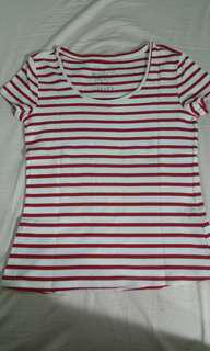 S oliver basic tee white red stripe