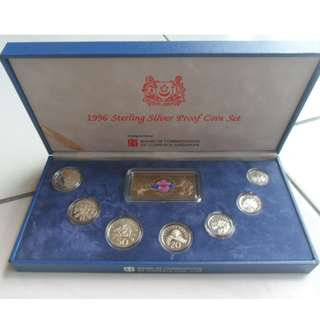 1996 Singapore Silver Proof Coin Set (1¢ - $5 Coin)