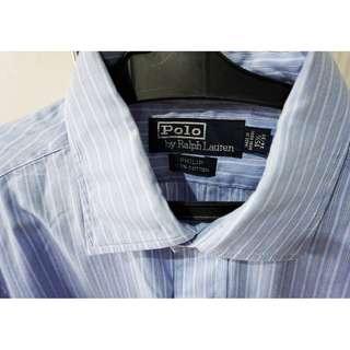 AUTHENTIC Ralph Lauren Light-Blue Long-Sleeve Polo