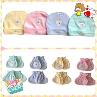 Baby Cap baby hat and mittens set