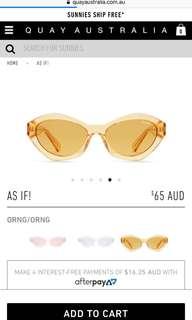 Quay AS IF! Sunglasses