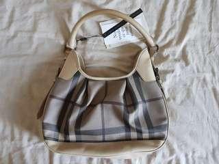 Burbbery Handbag Beige Checker