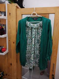 Blouse Hijau Sweater