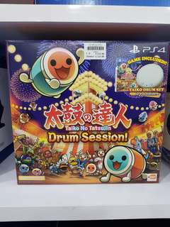 PS4 Taiko No Tatsujin Drum Session Game with Taiko Drum Set