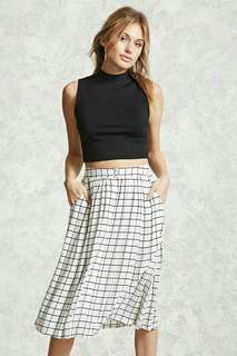 Forever21 Contemporary Front Button Skirt