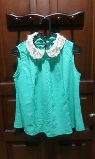 Baju Blouse Hijau Tosca