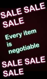 SALE SALE SALE : EVERY ITEM ON PAGE IS NEGOTIABLE