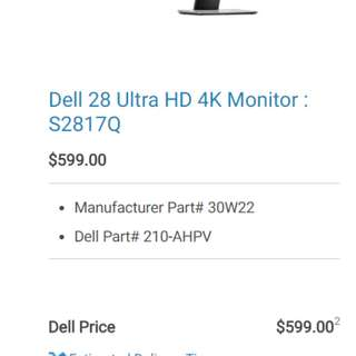Dell 4k 28in Monitor