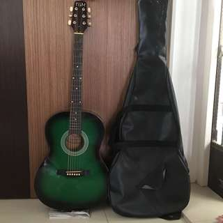 TGM Green Guitar with bag