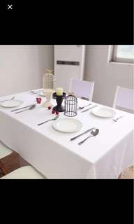 Large white table cloth