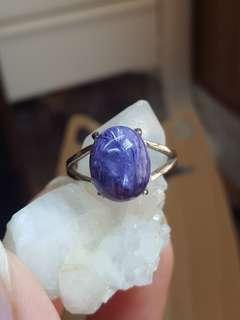 紫龍晶純銀戒指 E @天然水晶