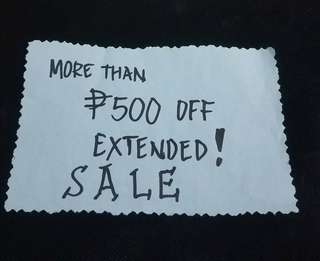 SALE!!!   ITEMS w/ P500 OFF TAG