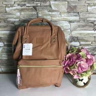 Anello Leather Backpack Nude Brown
