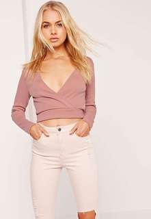 Pink Wrapped Crop Top