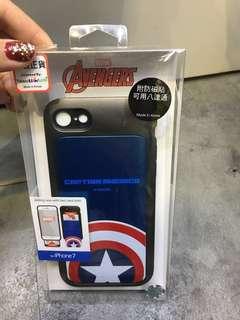 正版Marvel 美國隊長盾牌 可插卡iphone7 case