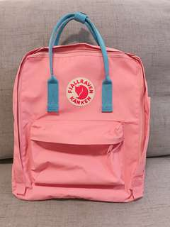 100% Real Fjallraven Kanken Classic Pink and Air Blue 99.999% new