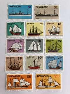 Singapore 1980 ships series mnh
