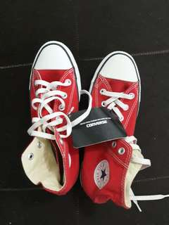Converse red high cut