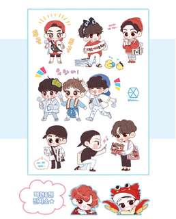[FAST G.O] EXO STICKERS