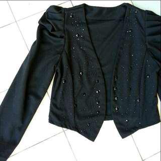 Black jacket cardigan with black diamonds