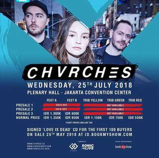 Chvrches live in jakarta FEST B