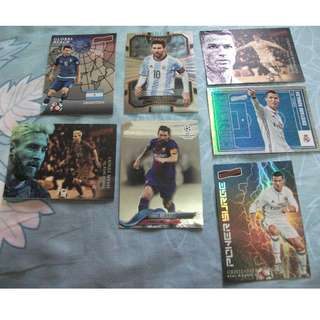 Cristiano Ronaldo and Lionel Messi Topps/Panini trading cards for sale