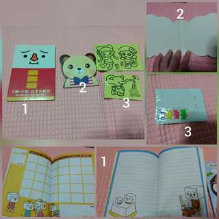 Cute Notebooks with 3 sand art