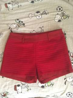 Red short pants #July70