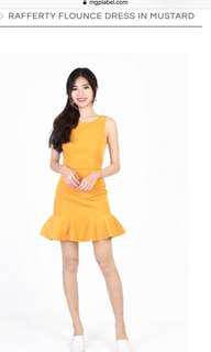 🚚 MGP Exclusive Rafferty Flounce Dress In Mustard